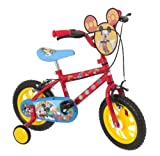 Mickey Mouse Boy's Bike - Red, 12 Inch
