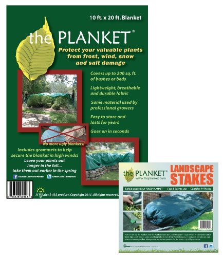 Planket Plant Frost Protection Cover Kit 200 sqft with 14 Landscape Stakes at Sears.com
