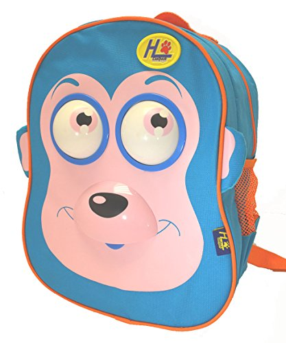 Animated 3d Toddler 13 Inch Backpack Monkey Rolling Eyes , Songs, Moving Tong - 1