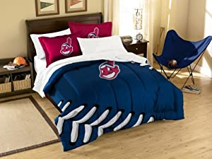 Cleveland Indians Twin Comforter and Shams Set by Northwest