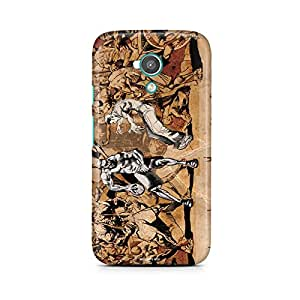 Motivatebox - Moto X Back Cover - Basketball War Polycarbonate 3D Hard case protective back cover. Premium Quality designer Printed 3D Matte finish hard case back cover.
