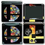 Super Smash Bros Melee Brawl Fire Cross Logo Mario Pikachu Zelda Video Game Vinyl Decal Skin Sticker Cover for Nintendo GBA SP Gameboy Advance System