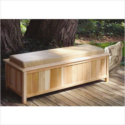 Indoor Storage Benches Cheap Cedar Large Storage Bench With Cushion Top Color Buckskin
