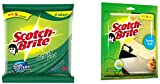 Scotch-Brite Scrub Pad Large (Pack of 3) and Sponge Wipe Large (Pack of 3)