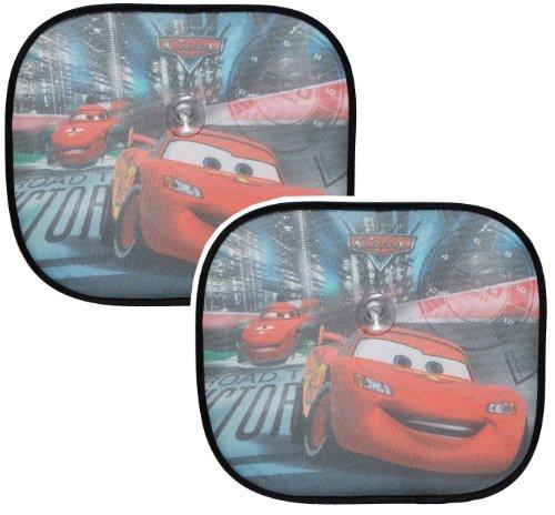 2 tlg. Set Sonnenschutz Disney Cars Lightning McQueen 44 cm * 37 cm - für Seitenscheibe / Sonnenblende für Kinder Auto Mc Queen Autos Sichtschutz Jungen Baby Seitenfenster