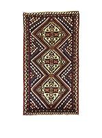 L'Eden del Tappeto Alfombra Shahre Babak Rojo / Verde / Multicolor 73 x 133 cm