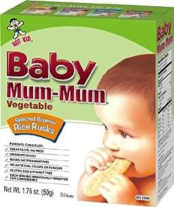 Hot-Kid Baby Mum-Mum Vegetable Flavor Rice Biscuit, 24-pieces, 50 g, (Pack of 6)