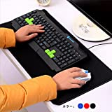 MEIYEゲーミングマウスパッド キーボード/マウス パッド デスク マット ブラック