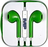 IVIP Earphones With Remote, Mic, Volume Controls For Apple iPod iPad iPhone 4 4S iPhone 5 5C 5S (Green)