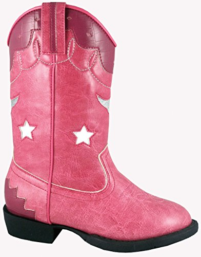 Childern'S Smoky Mountain 1167T Kids Austin Lights Western Boots Pink 7 M Us Toddler