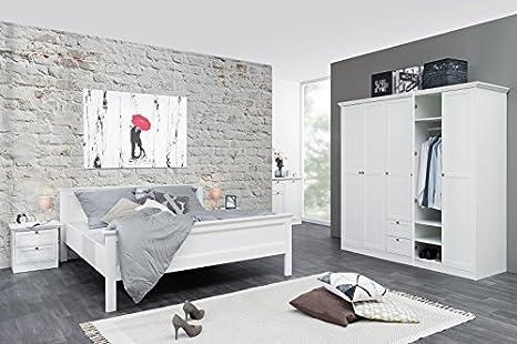 Kleiderschrank 'Fiona 19' Landhaus Weiß 190x200x67cm