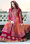 Pink Georgette & Net Suit