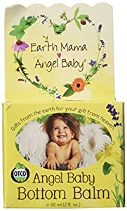 Earth Mama Angel Baby Bottom Balm Zinc & Lanolin Free Calendula Herbal Diaper Cream, 2 Fluid Ounce