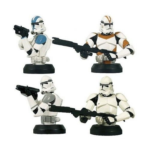 Gentle Giant - Pack de 4 Bust-Up Clone Troopers - 0871810000777