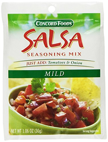 Concord Foods, Salsa Mix, Mild, 1.06oz Packet (Pack of 6) (Concord Salsa compare prices)