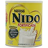 Nestle Nido Instant Dry Whole Milk Powder, Fortificada, 1.76-Pound Cans (Pack of 2) ~ Nido