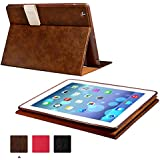 KEVENZ Smart Covers and Soft Back Case For Apple iPad 2/iPad 3/iPad 4 Case Cover - Brown - K404