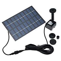 Constructan(TM) Solar Powered Pump Garden For Water Cycle/Pond Fountain/Rockery Fountain