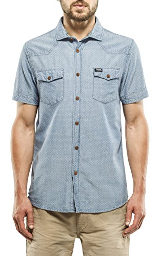 Petrol Industries Shirt SS, Camicia a Maniche Corte Uomo, 578, XL