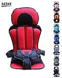 【DEZAR】チャイルドシート 生後 9カ月 ~ 4才 まで ご利用 出来ます 持ち運び に 便利 取り付け 脱着 簡単 子供 保護 簡易 型 座席 どこでも チェア シート ベビー チェア (赤色)