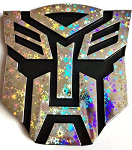Tinkerbell Trinkets® Transformers Autobot REFLECTIVE HOLOGRAM Chrome Car Emblem Decal Badge Sticker - LARGE SIZE