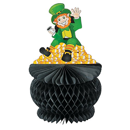 St. Patrick's Day Pot of Gold Tissue Paper Centerpiece - 1 Piece - 1