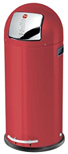 Hailo KickMaxx Waste Bin, Red, 50L       reviews and more information
