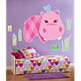 Hippo Pink Giant Wall Decals Party Supplies  Pink