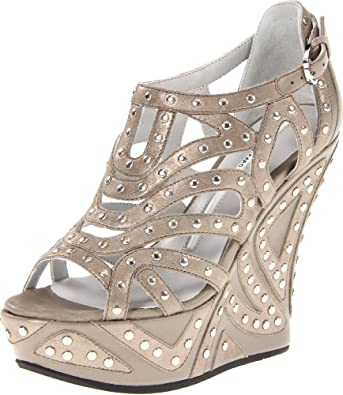 Camilla Skovgaard London Women's Wedge Sandal,Dust Metallic/Studs,36 EU/6 M US