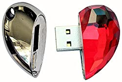 Zeztee Heart Shape fancy 16GB Pen Drive ZTCRPD1027_R USB 2.0 (Multicolor)