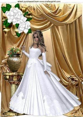 NUR EINE UMWERFENDE! Elegante Dame IN weißer Bademantel, GOLD DRAPES Gefütterter Vorhang A4 von Nick Bowleyscher