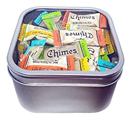 Ginger Chews Variety In A Tin Candy Gift Box With Window
