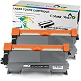 2 Pack ColourDirect TN2010 Toner Cartridge for Brother HL2130 HL2132 HL2135w DCP-7055 DCP-7055W DCP-7057 Printer
