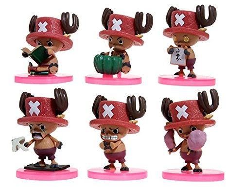 8 cm 6 pcs One Piece Tony Tony Chopper Toy Figure Set (Red) by Completestore (1 6 Scale Chopper compare prices)