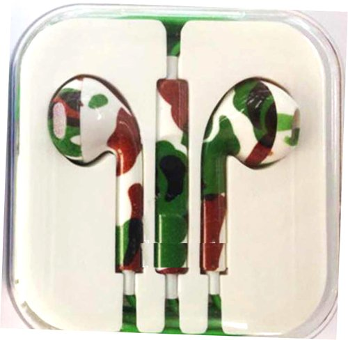 Thinkcase New Colorful Earphones Headphones Earbud Volume Remote+Mic For Iphone4 4S 5 5C Ipad2 3 Ipod Others Device 11#