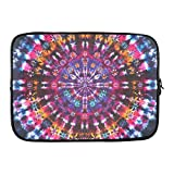 "Grrl Tie Dye Mandala 15"" 15.6"" Inch Laptop Sleeve Bag for Lenovo, Dell Inspiron, Vostro, Samsung, ASUS UL30, Toshiba Notebook YS060602"