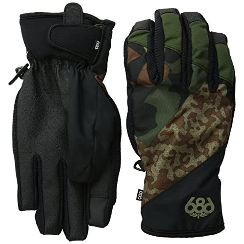 【686】シックスエイトシックス2015-2016/Icon Pipe Glove メンズスノーグローブ Army Cubist Camo L