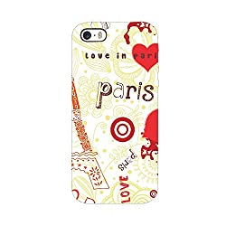 Skintice Designer Back Cover with designer 3D sublimation printing for Apple iPhone 5/5S