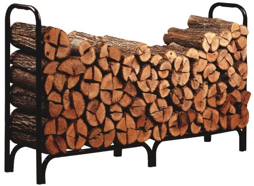 Panacea 15204 Deluxe Outdoor Log Rack, Black, 8-Feet photo