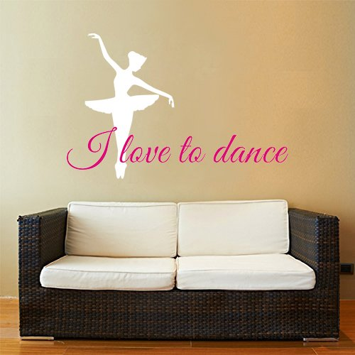 Higoss I love to dance Wall Art Quote Lettering Decals_Wall ...