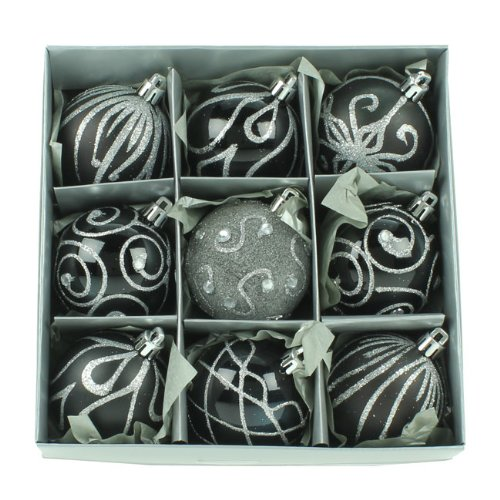 set-of-nine-black-silver-christmas-tree-baubles-6cm