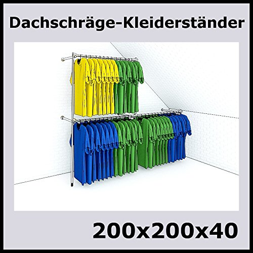 200x200x40-DACHSCHRGE-KLEIDERSTNDER-WANDSTNDER-WANDREGAL-TEXTILSTNDER-GARDEROBE