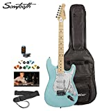 Sawtooth Electric Guitar w/ 3-Ply Pickguard - Includes: Accessories, Gig Bag & Online Lesson