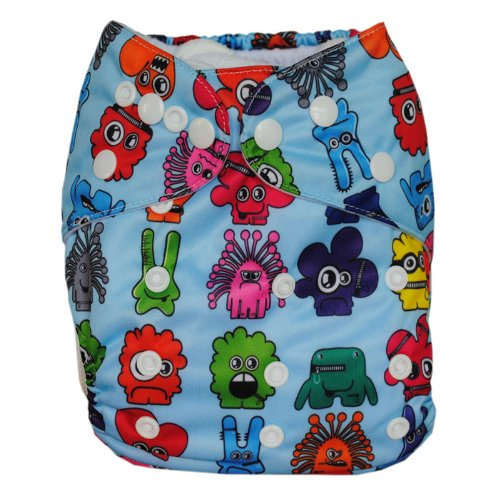 Besto Baby Reusable Washable Aio Cloth Diapers Fit 6-33Lbs With 1 Free Microfiber Insert 1N31 back-788768