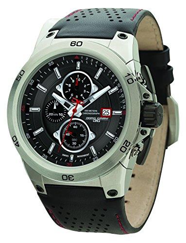 Jorg Gray JG7800-21 - Reloj de pulsera hombre, piel, color negro