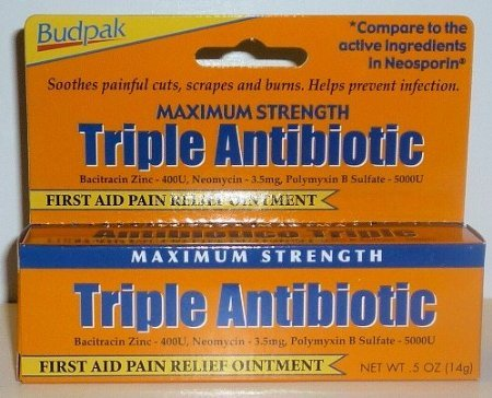 Budpak Maximum Strength Triple Antibiotic, New and Improved Ointment, with Bacitracin, 0.5 Oz / 14 G (Pack of 3) at Sears.com
