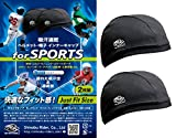 Shinobu Sportif INVISTA社 COOLMAX_ 吸汗速乾 ヘルメット・帽子 インナーキャップ (2枚組) キャップタイプ (Mサイズ) SR-055