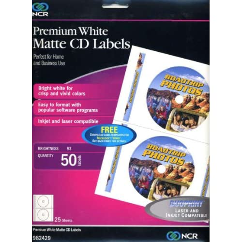 CD Labels, 25 Sheets, 50 Labels : Printer Labels : Office Products