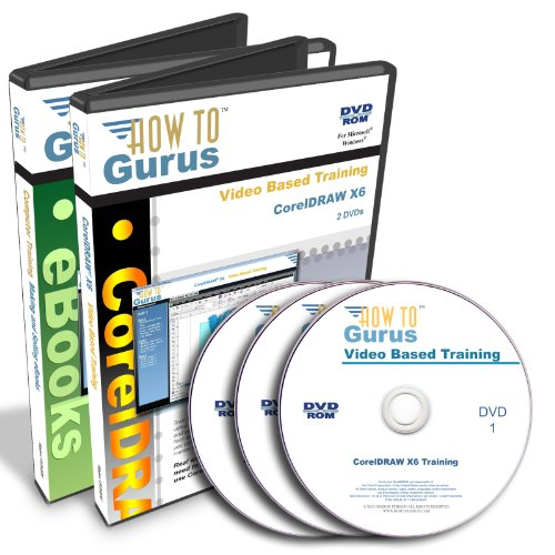 Corel Coreldraw X6 & How To Make Ebooks Tutorial Training On 3 Dvds, 23 Hours In 338 Video Lessons. Computer Software Video Tutorials