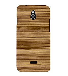 printtech Wooden Design Back Case Cover for Infocus M2 4G